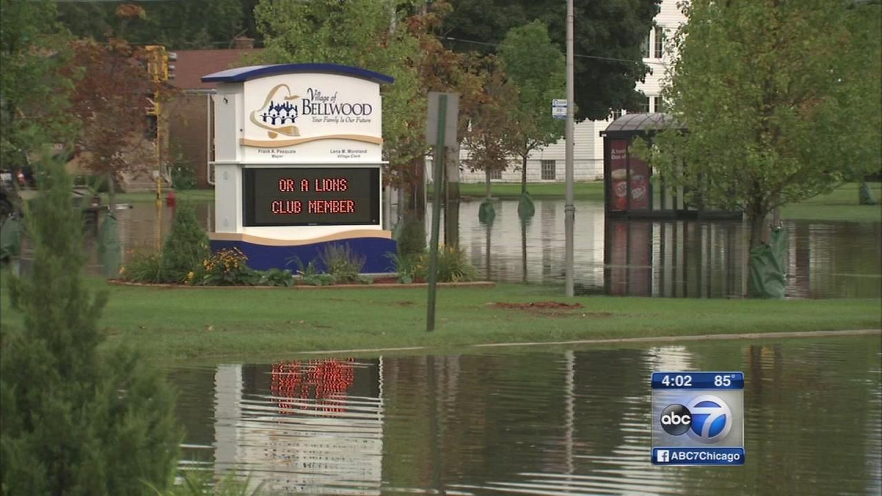 Bellwood residents waiting for flood waters to recede