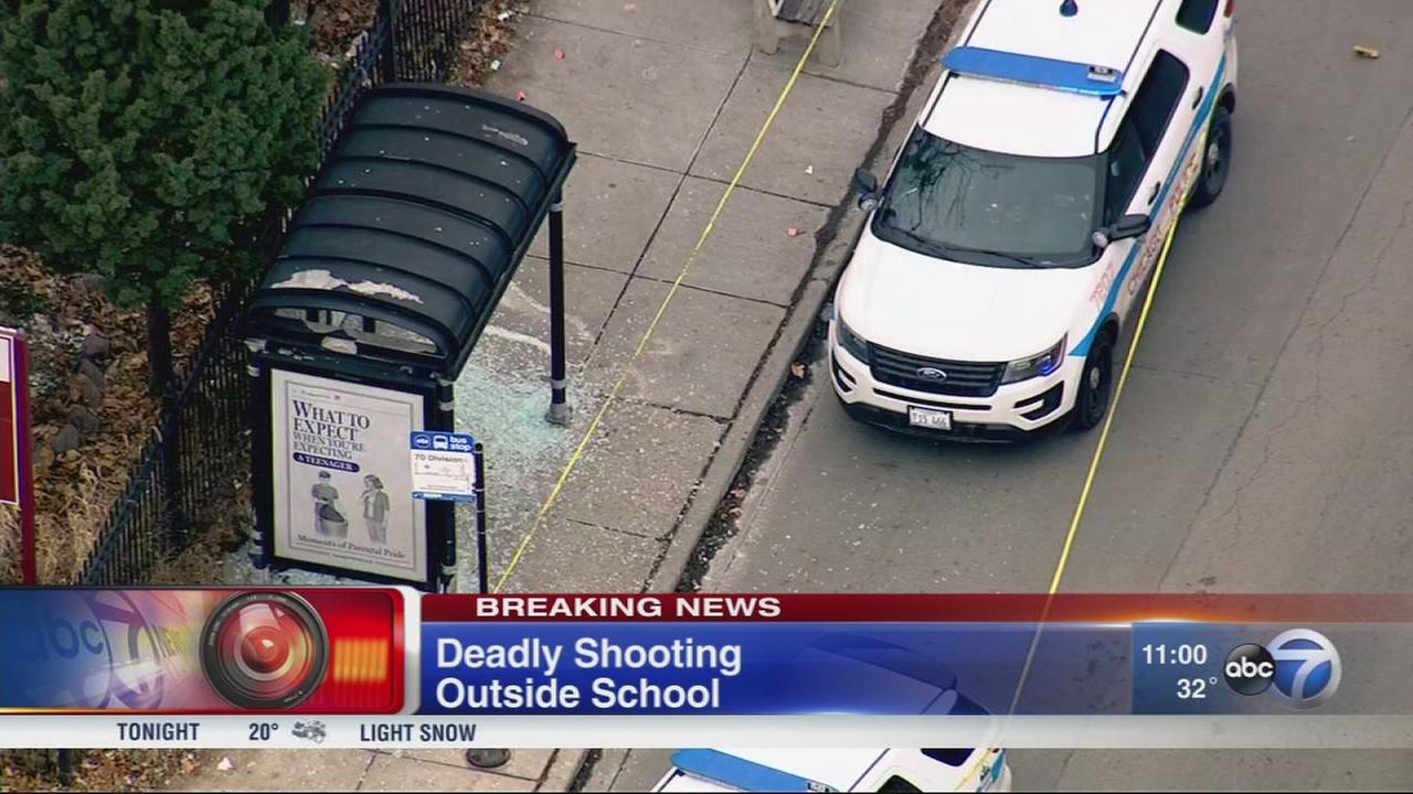 1 killed, 1 shot outside West Side school