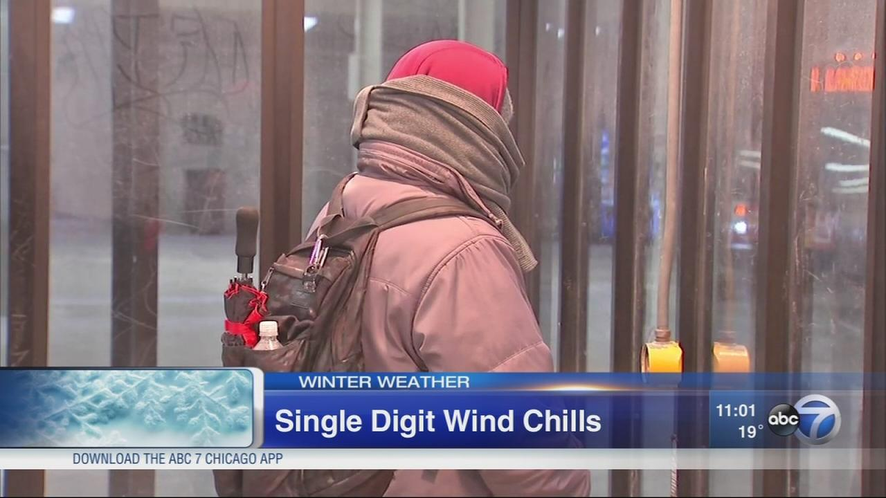 Single digit wind chills in Chicago