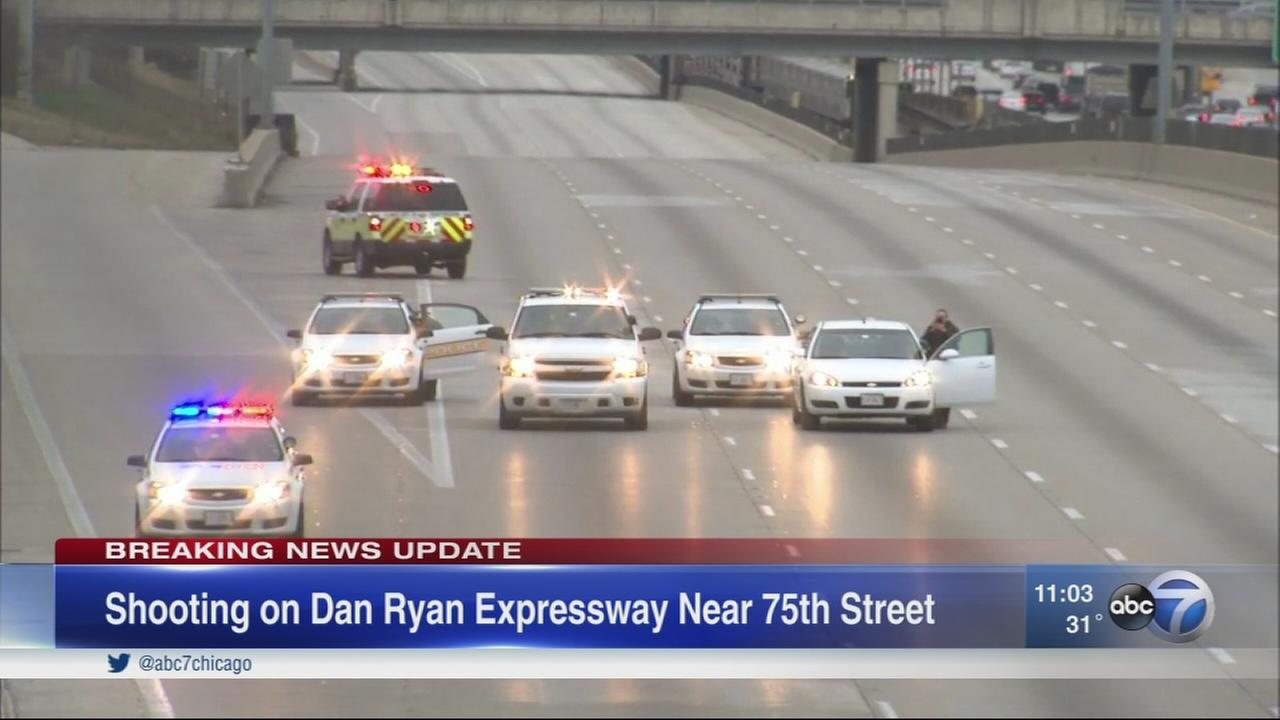 Shots fired on Dan Ryan close OB lanes