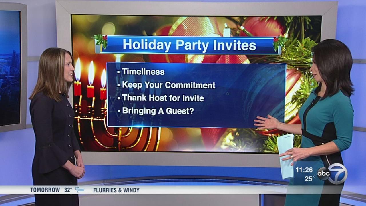 Holiday season etiquette from expert Ellen Ericson