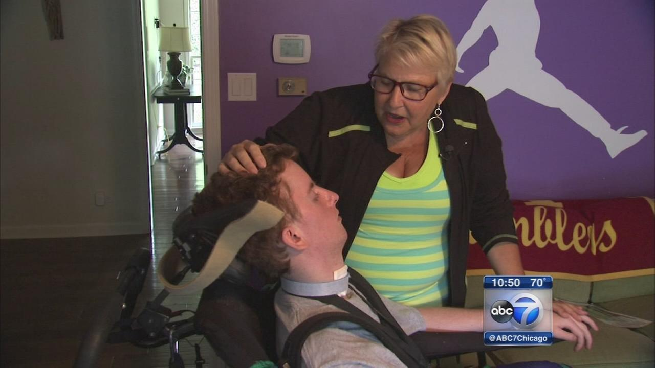 Nurse using patient for Chicago Triathlon inspiration