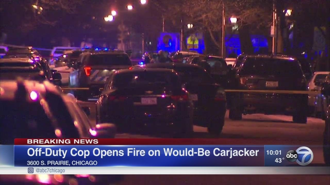 Police: Off-duty CPD officer shoots attempted carjacker