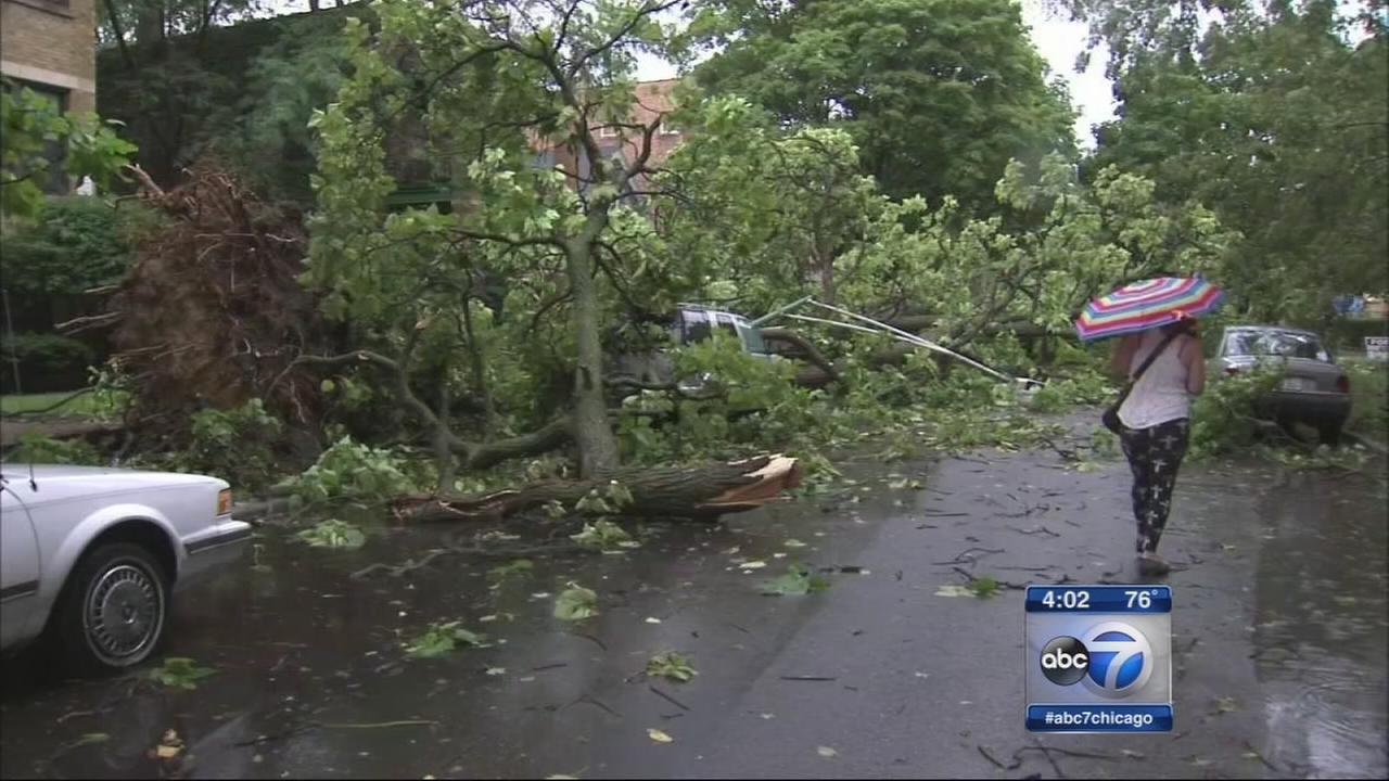 Severe thunderstorms cause damage, power outages