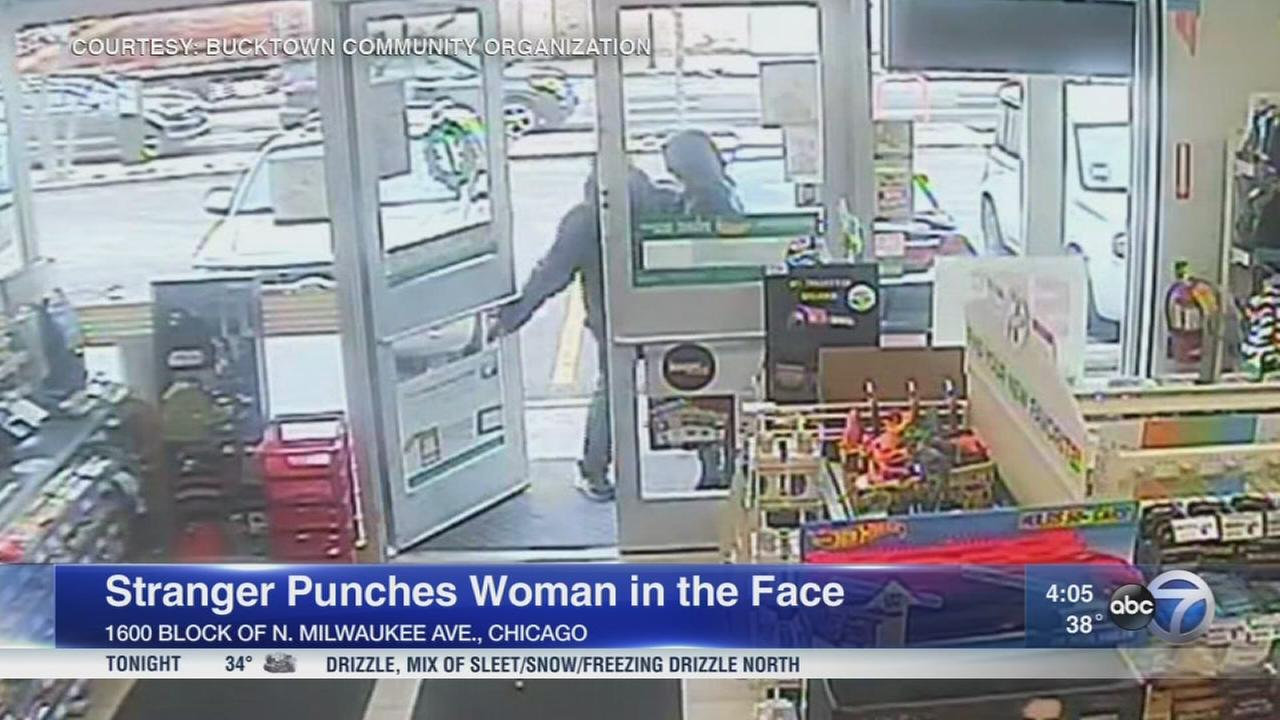 Woman punched in face by stranger at Wicker Park 7-Eleven