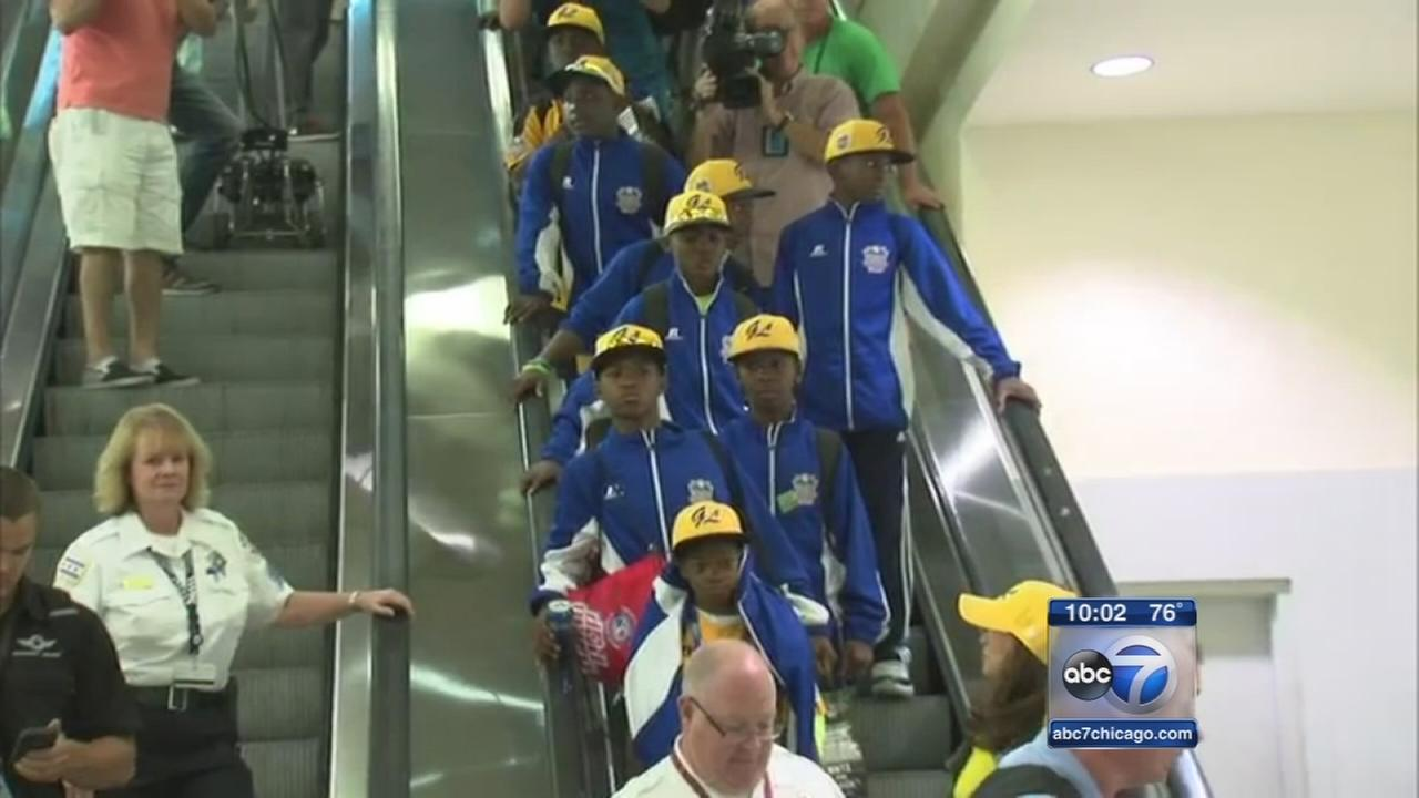Jackie Robinson West All-Stars return home to Chicago