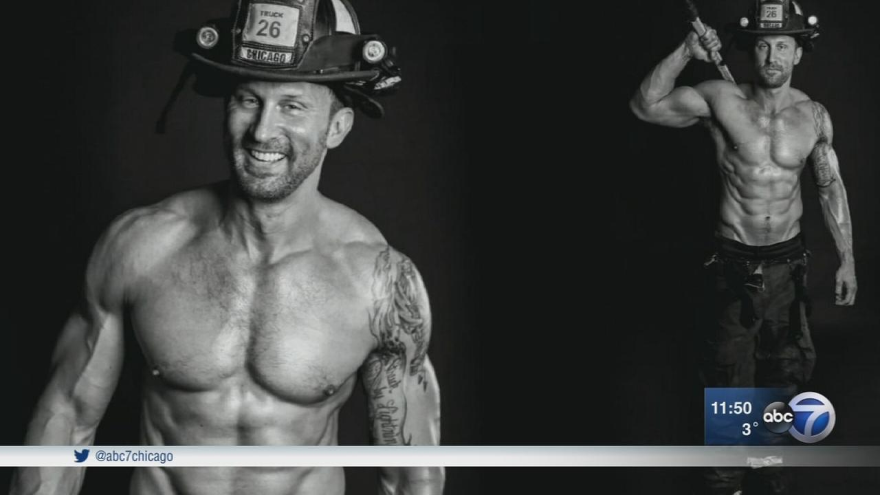 Chicago firefighters pose in calendar for charity