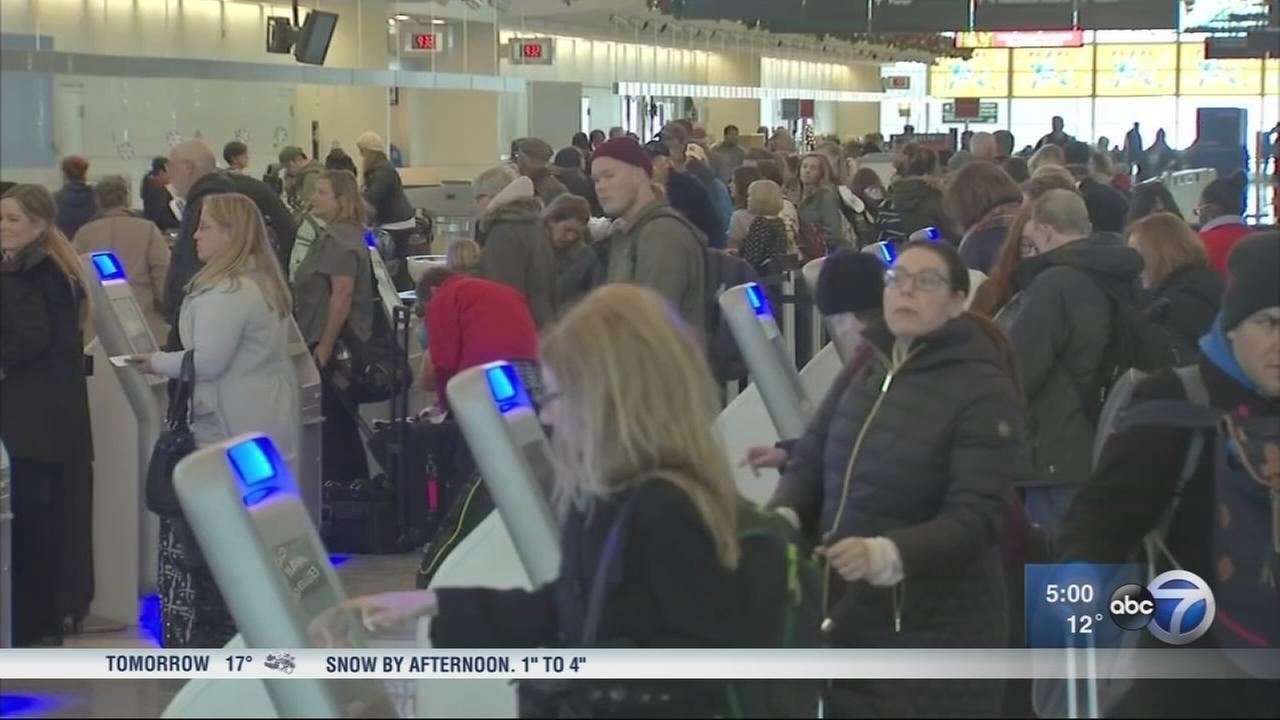 Bitter cold causes canceled flights at Midway Airport