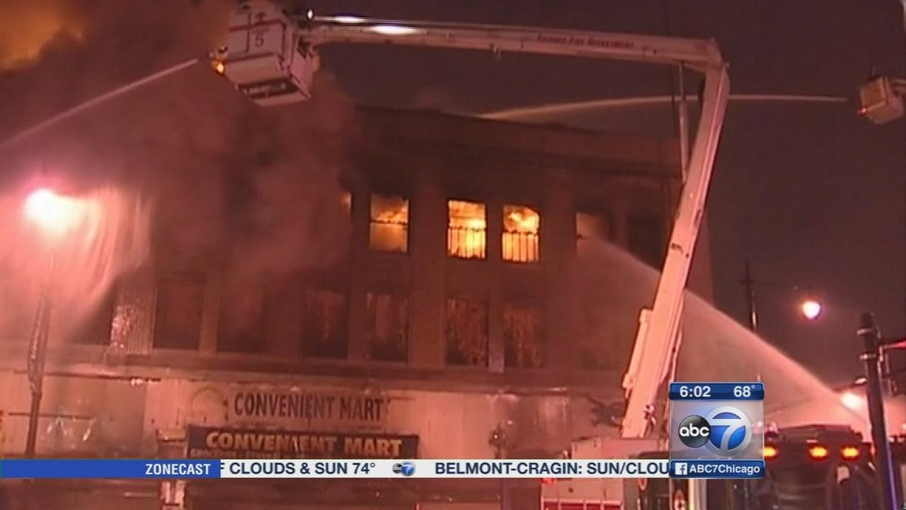 Chicago firefighters battle 3 alarm blaze in Englewood