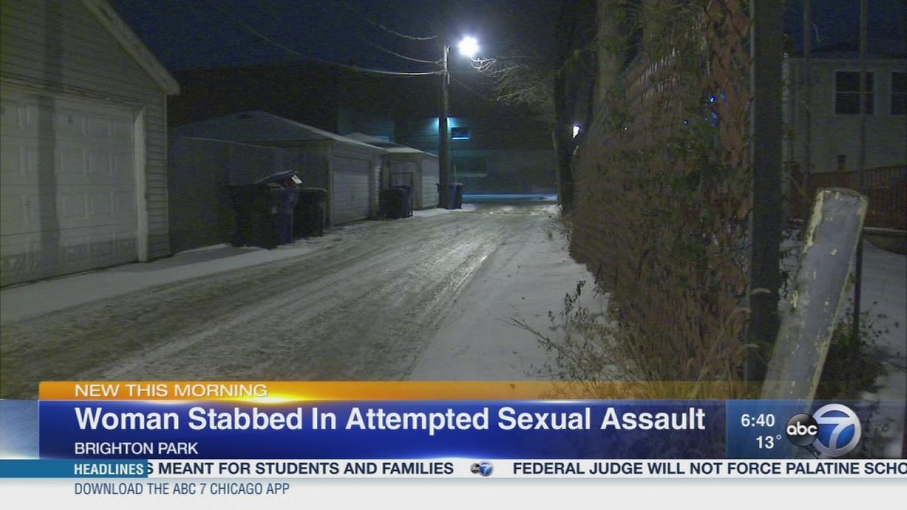 Woman stabbed in attempted sex assault