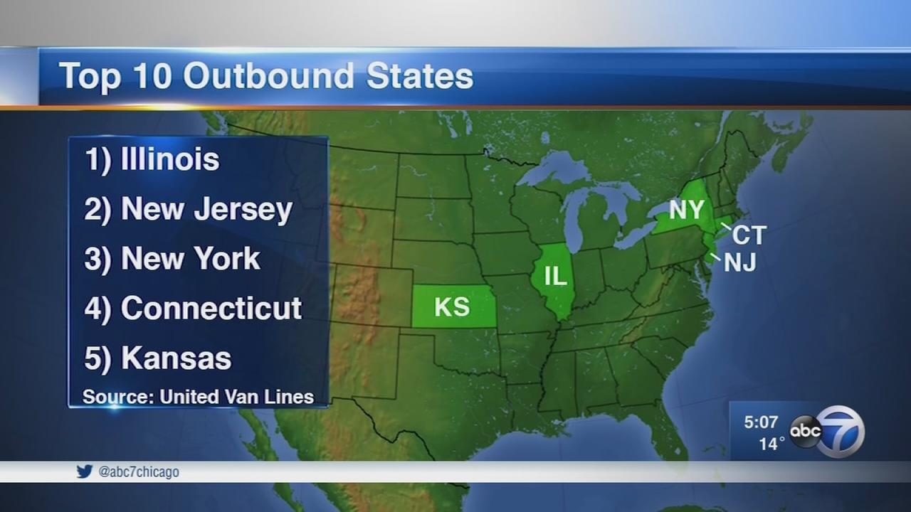 Illinois most moved from state in 2017, study finds