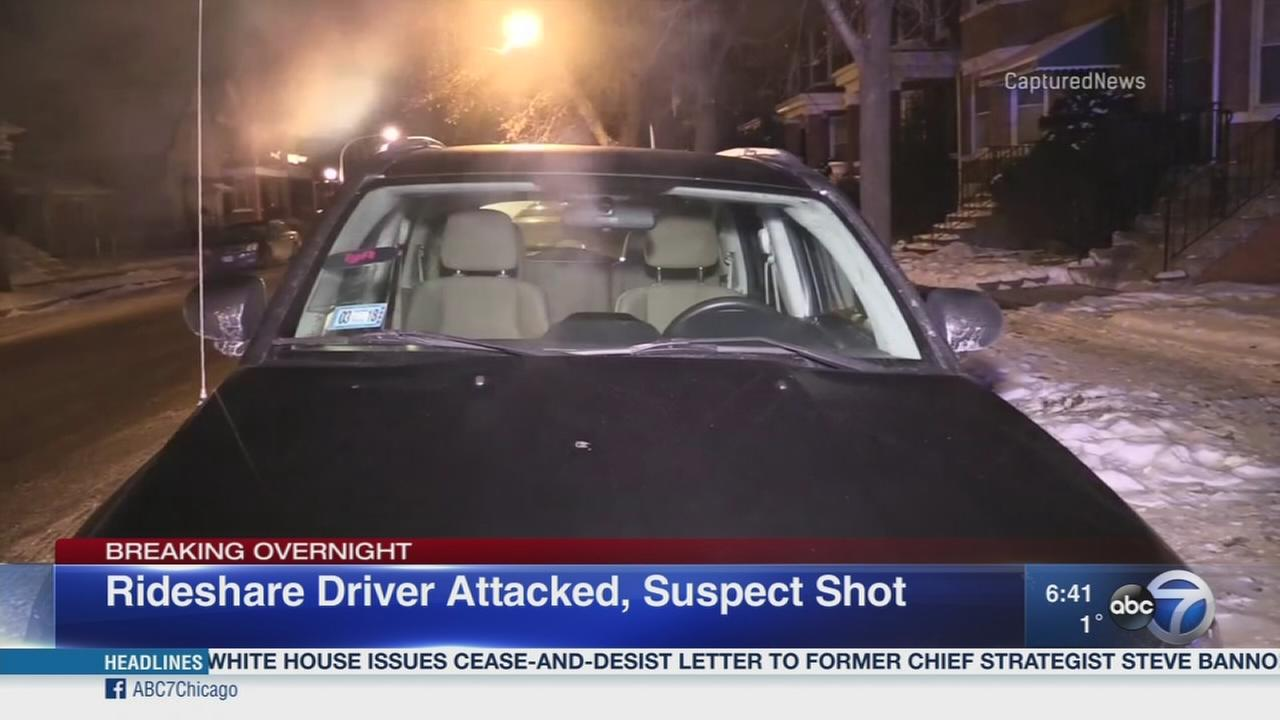 Rideshare driver attacked, suspect shot