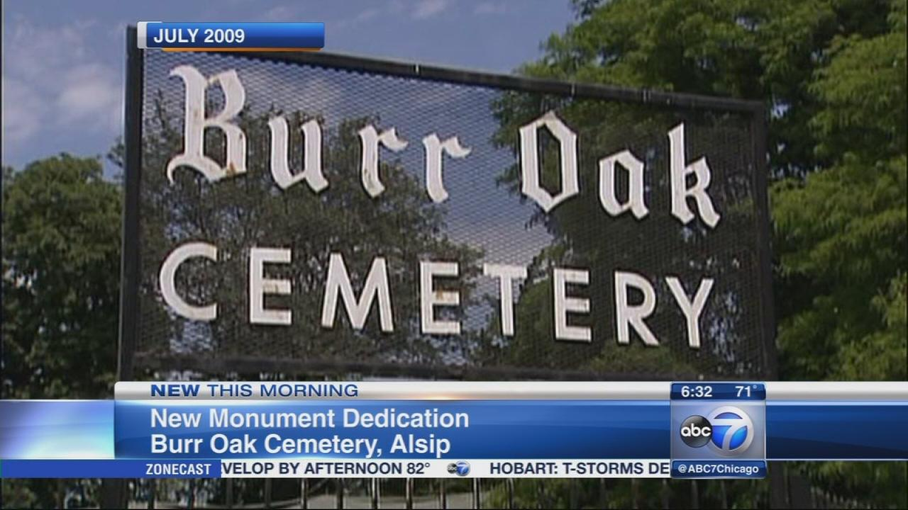 New monument, improvements to Burr Oak Cemetary unveiled
