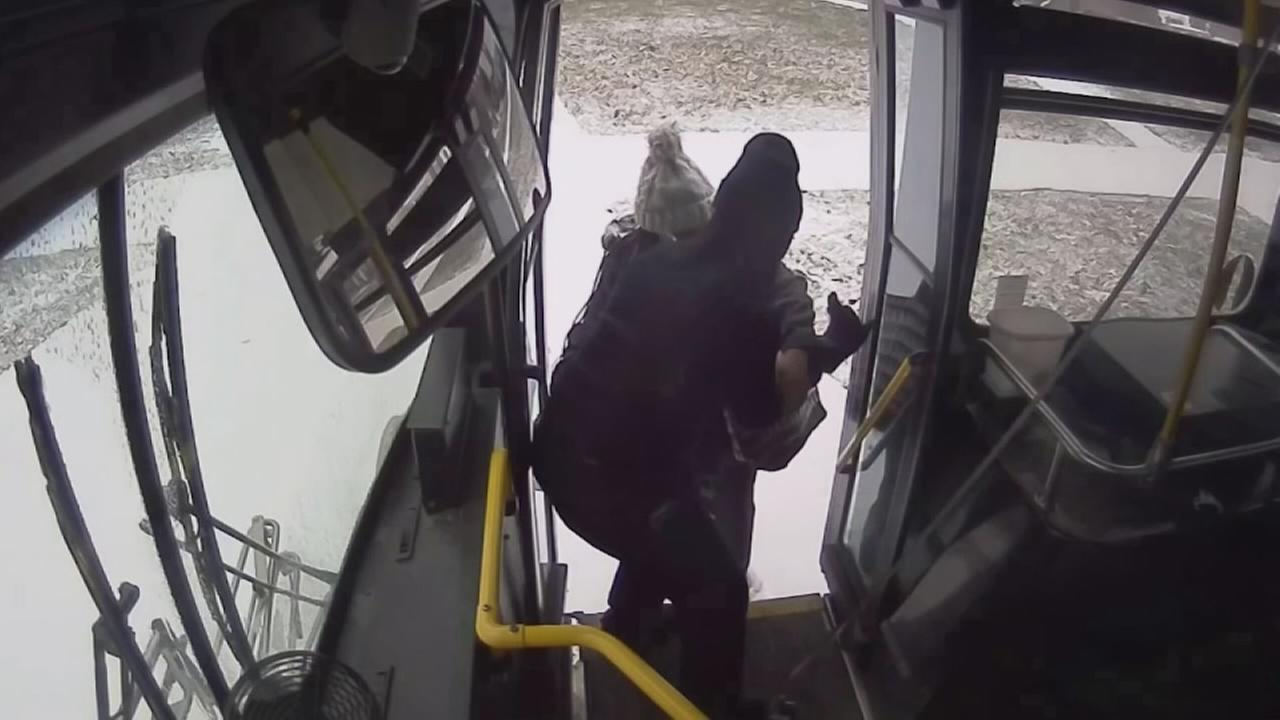 Bus driver stops to help woman going into labor