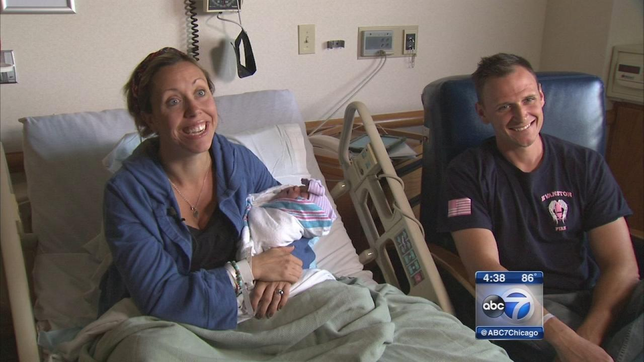 Off-duty firefighter delivers own daughter on Edens Expressway