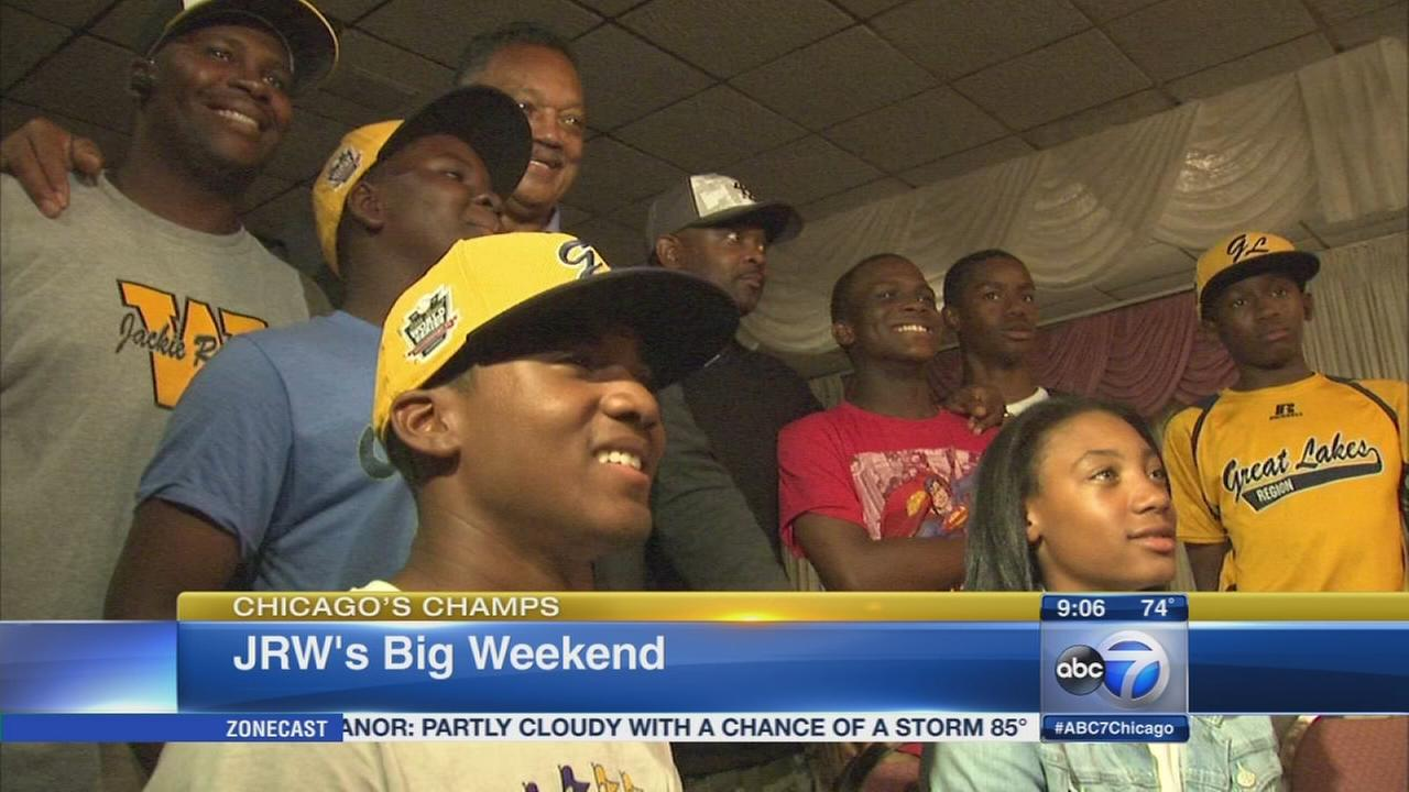 Jackie Robinson West has busy first weekend back in Chicago