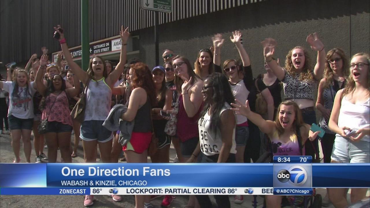 Fans wait for hours for glimpse of One Direction