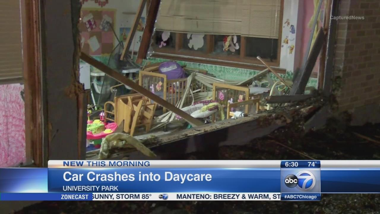 Car crashes into University Park daycare