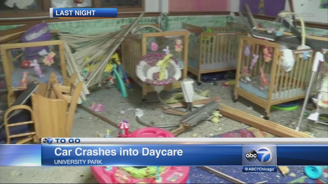 Car crashes into daycare