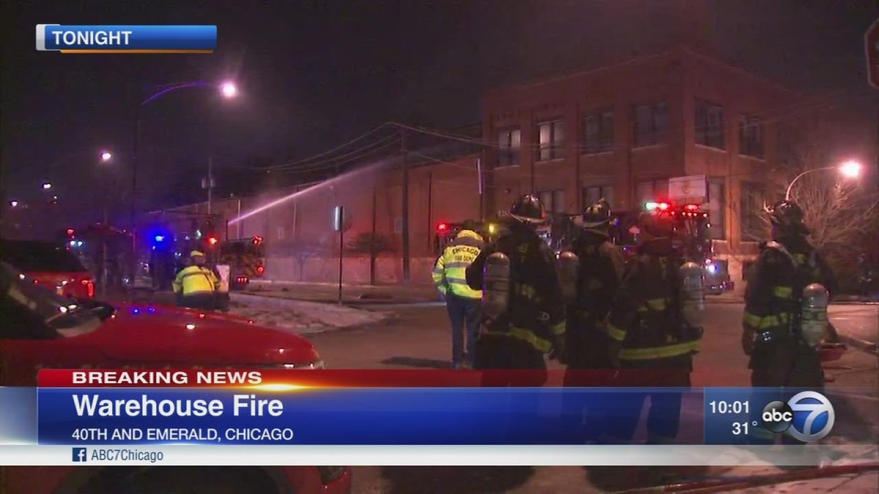 Firefighters battle fire at abandoned mattress factory on South Side