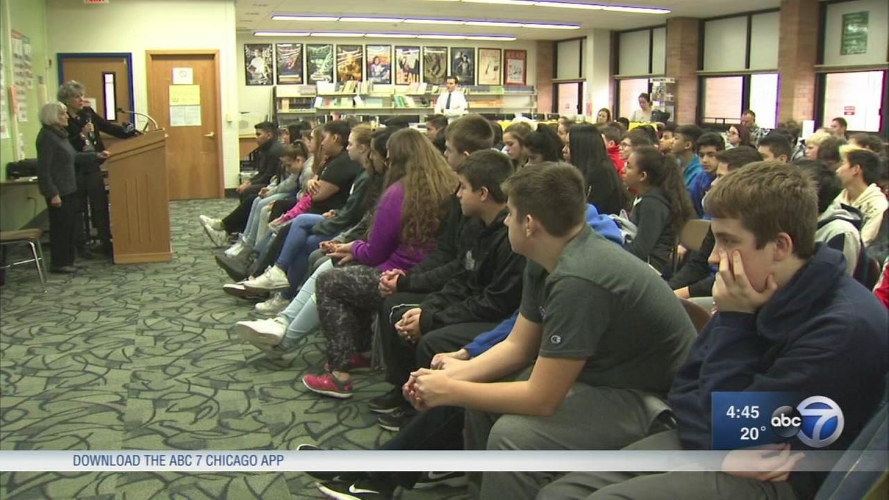 Des Plaines middle schoolers meet Holocaust survivor
