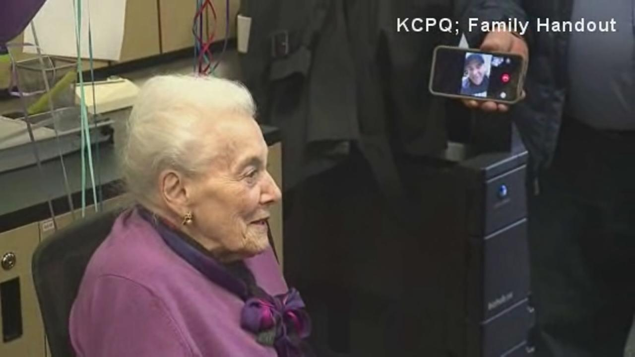 Grandma gets big suprise for 101st birthday