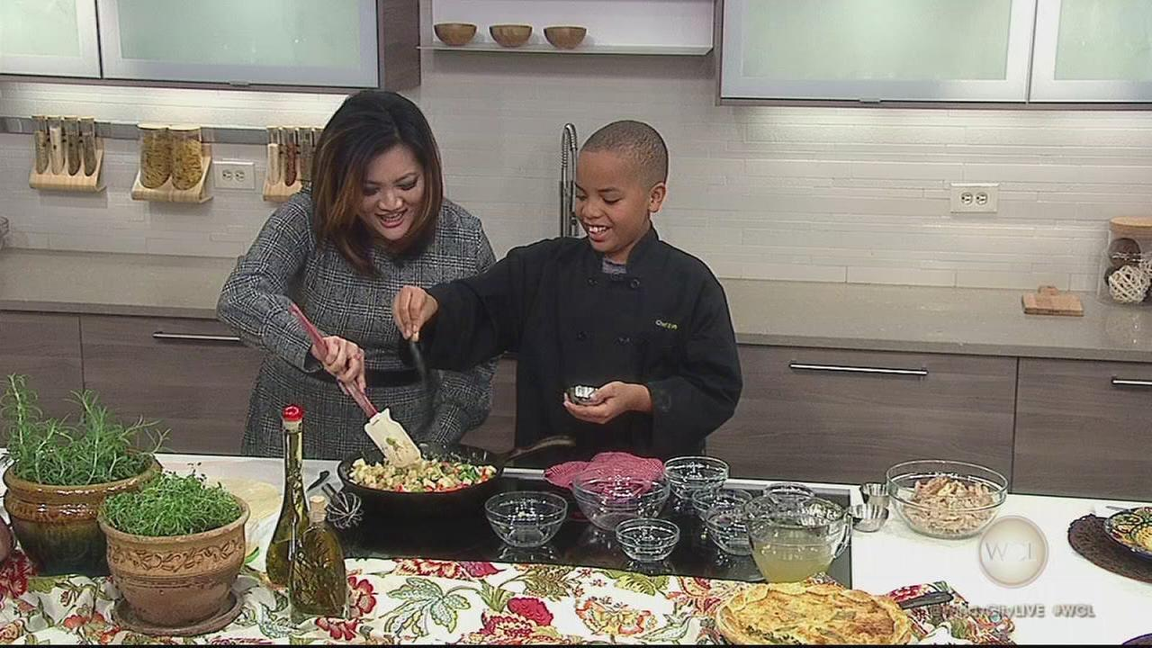 12-year-old Chicago kid chef Evan Robinson