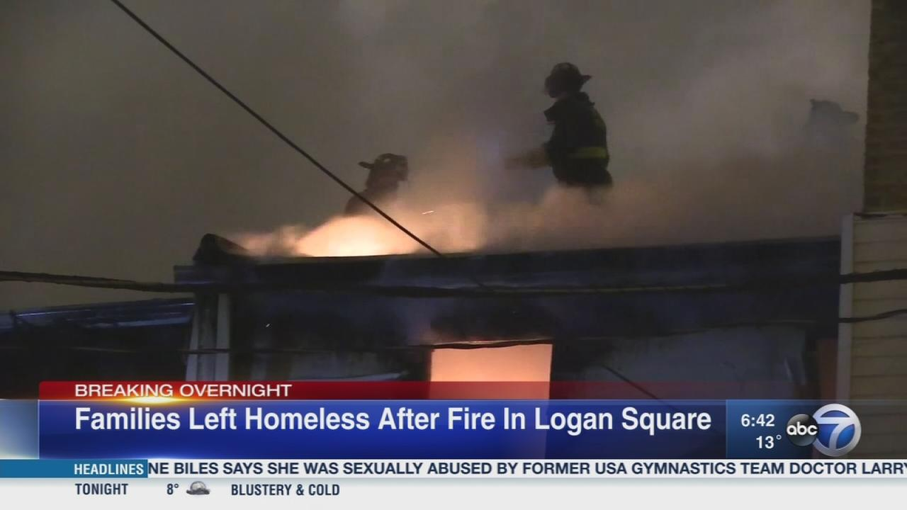 Logan Square fire displaces several