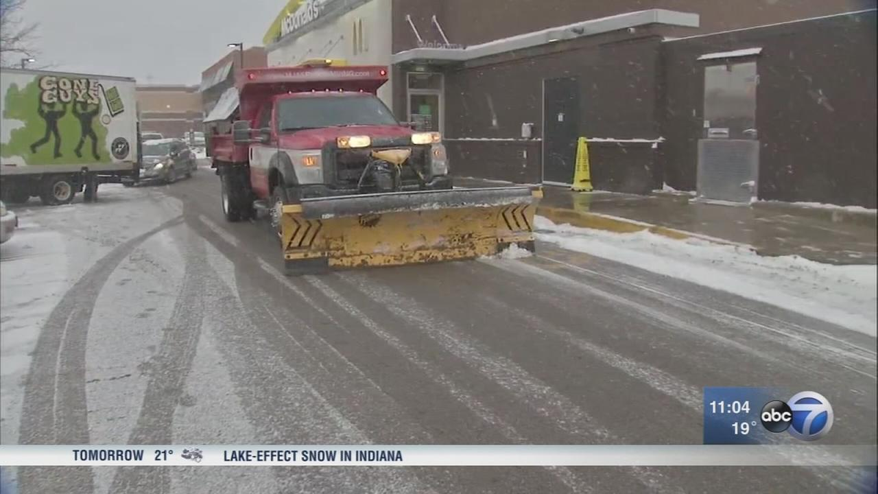 Snow creates slick roads across Chicago area