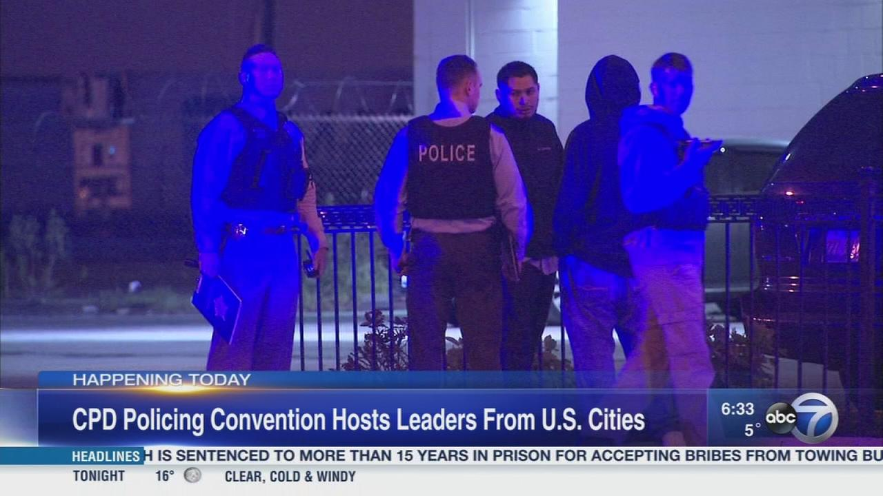 US leaders in Chicago for police convention