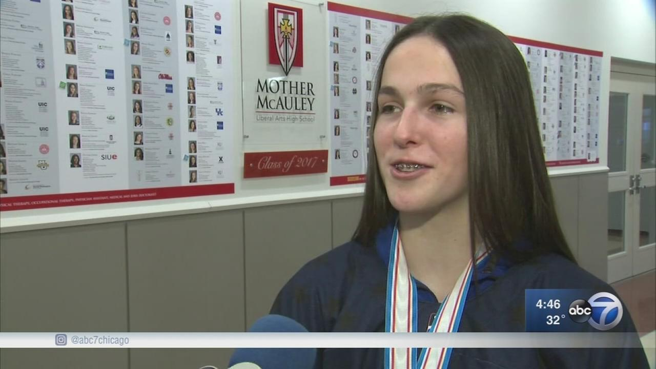 Mother McAuley sophomore returns home a world champion