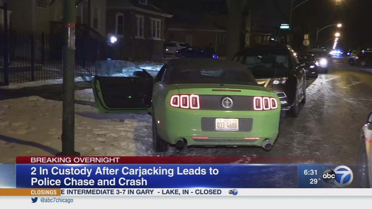 Suspects in carjacked Mustang lead CPD on nearly hour-long chase