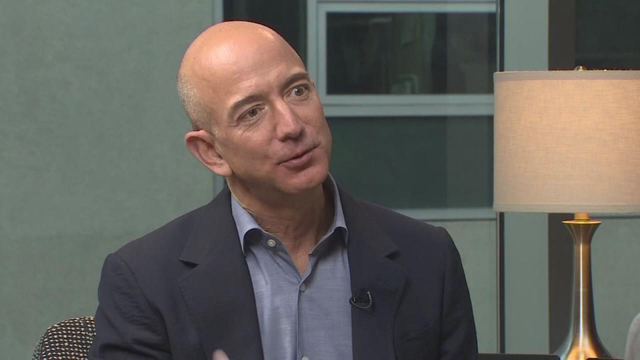 What is amazon founder Jeff Bezos looking for?