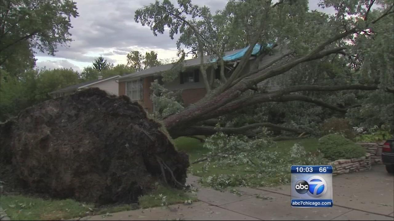 Cleanup begins after severe storms move through