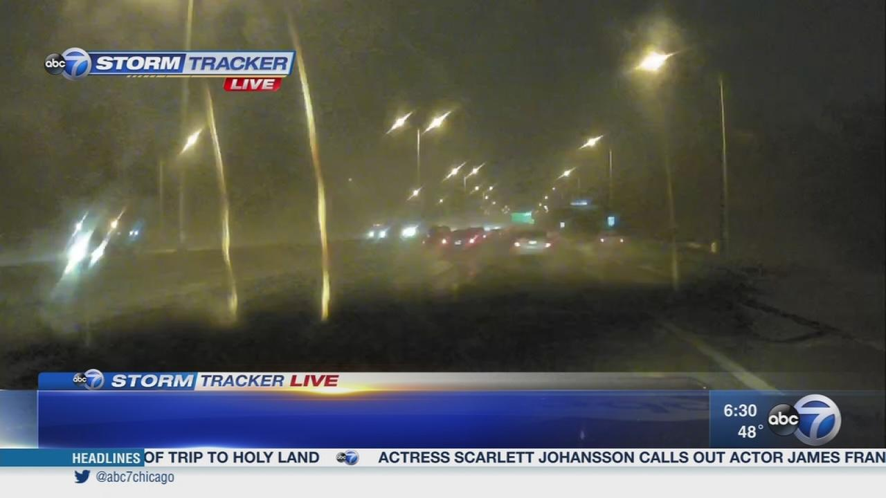 Rain, fog creating poor visibility for drivers during morning commute