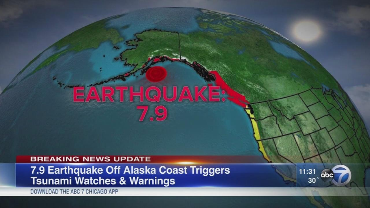 Alaska eatthquake prompted tsunami warnings
