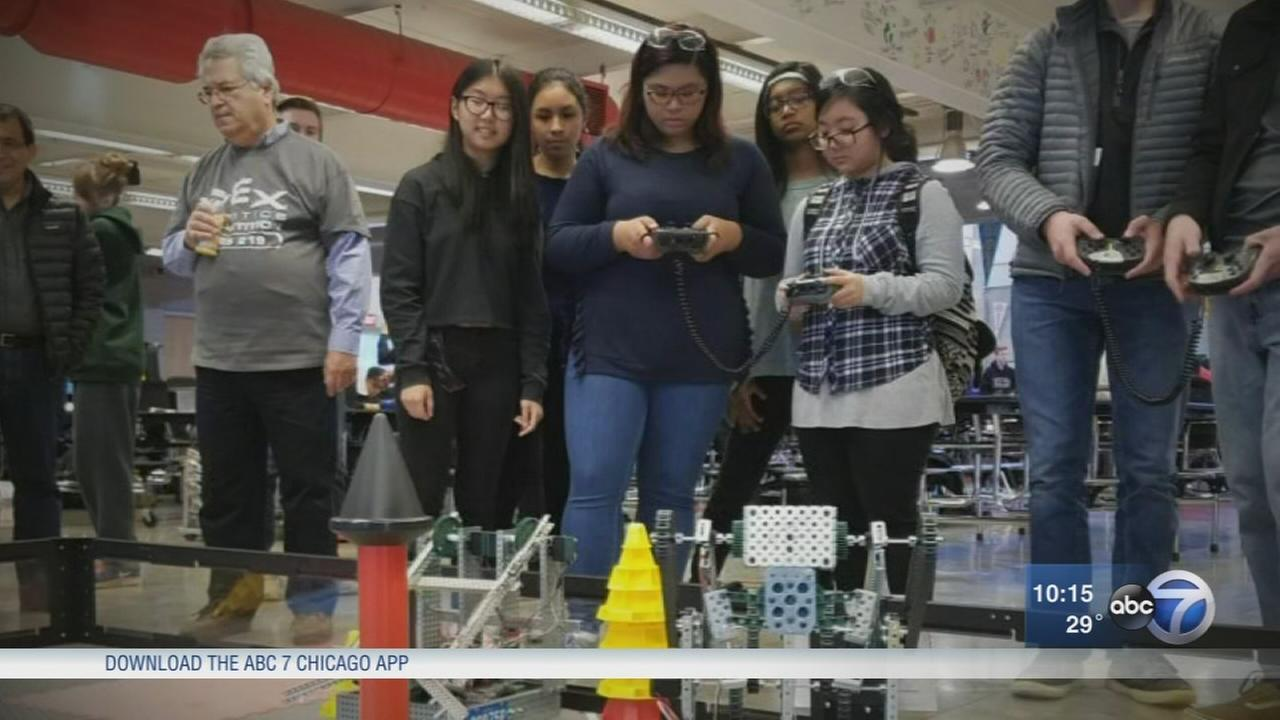 North Park all-girls robotics team prepares for national competition