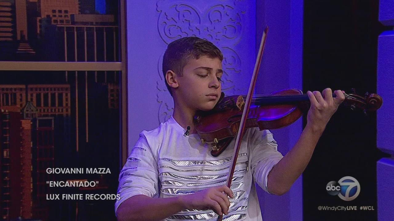 Violin prodigy Giovanni Mazza performs on WCL