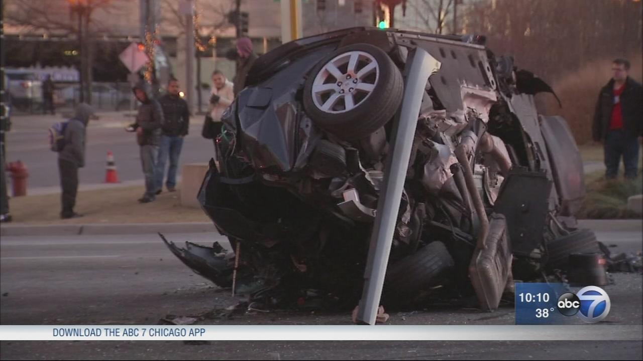 Fatal 8-car pileup blocks intersection
