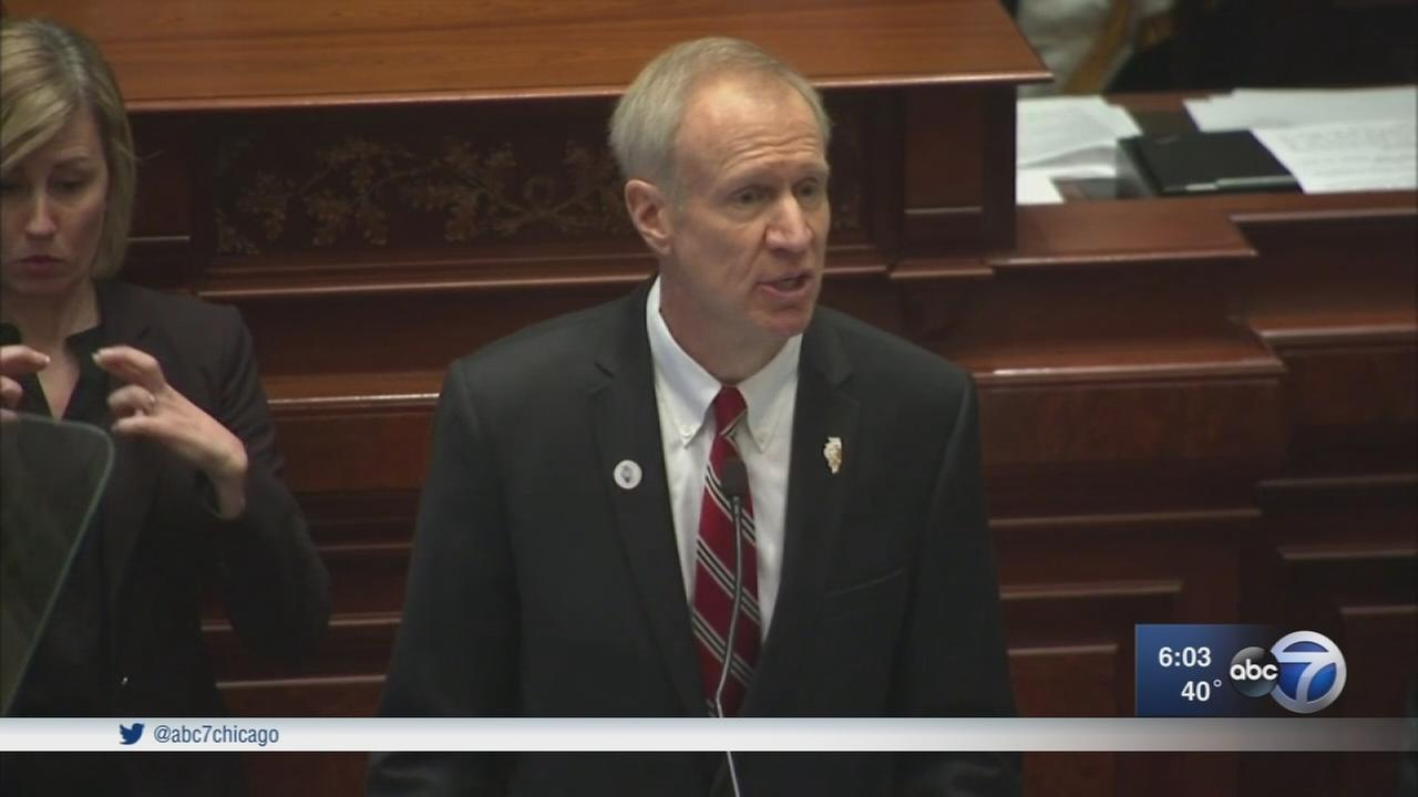 Rauner  calls for property tax freeze, term limits in State of the State address