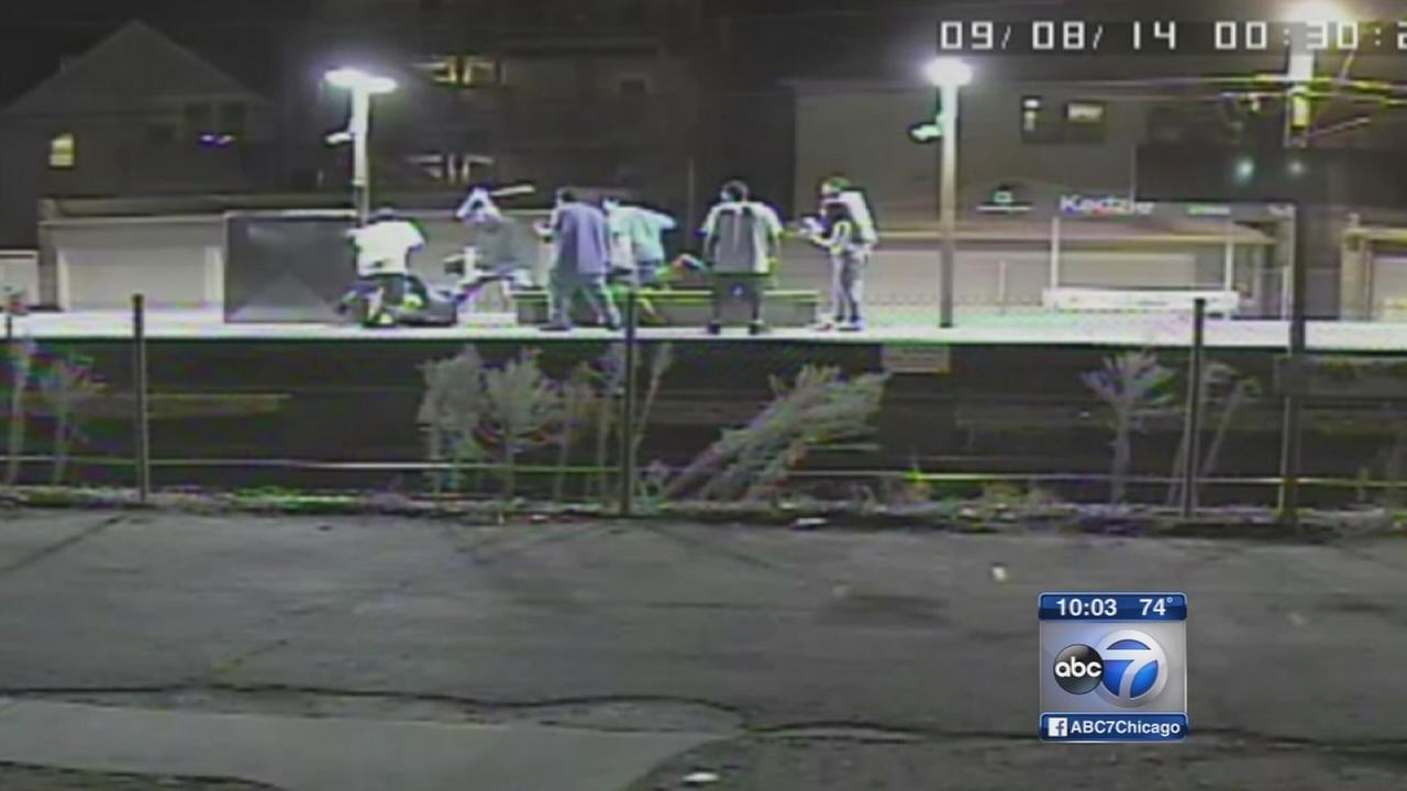 Man attacked with machete at Brown Line station