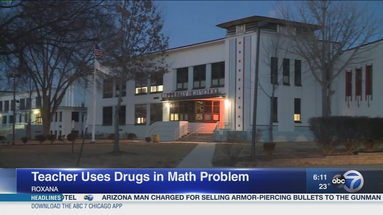 Ill. teacher apologizes for drug-related math problems