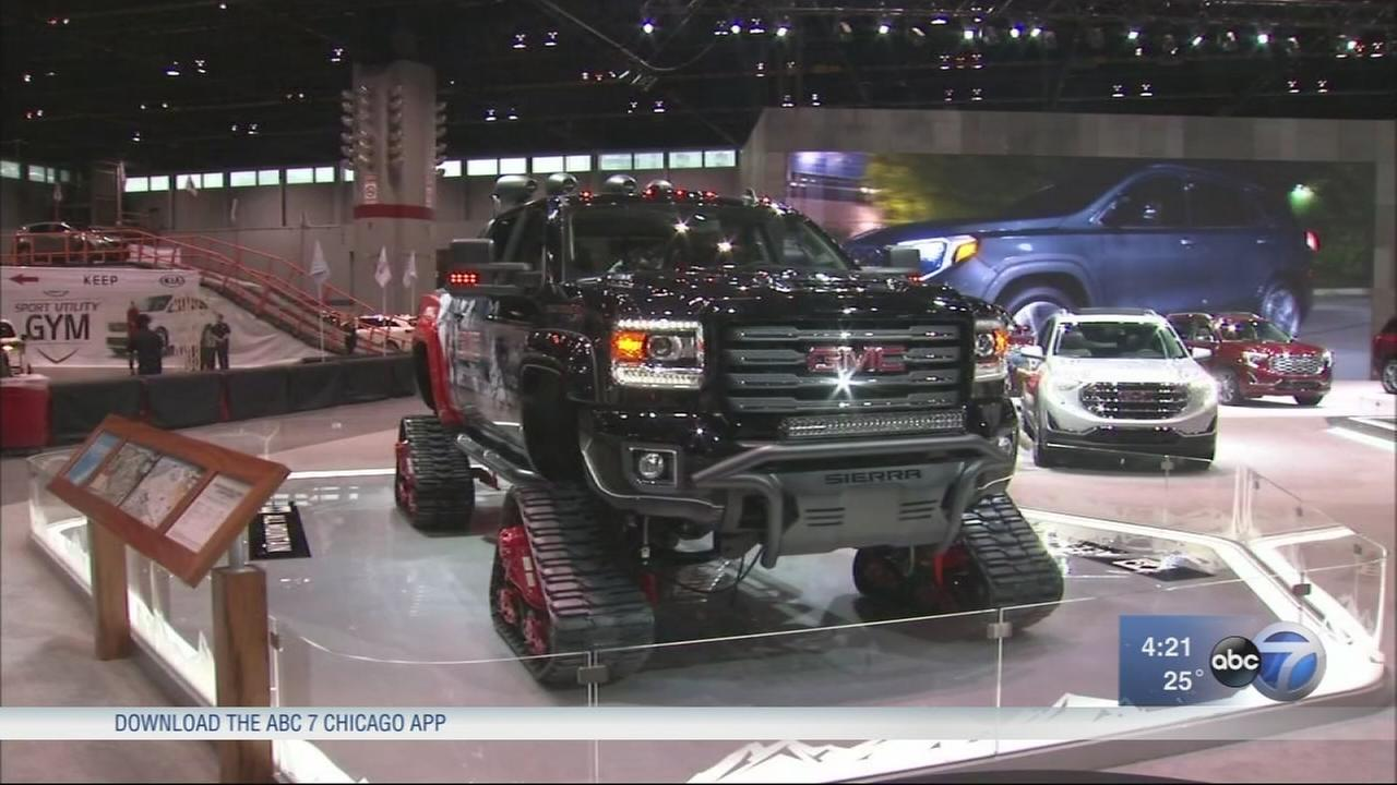 Big truck concepts, sporty cars at auto show