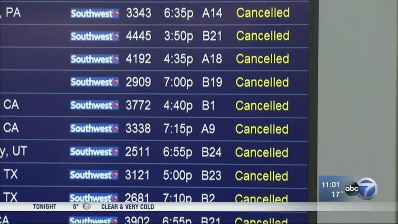 Southwest back to normal after running out of deicer at Midway