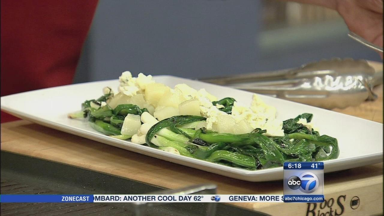 Lets Dish: Grilled green onions