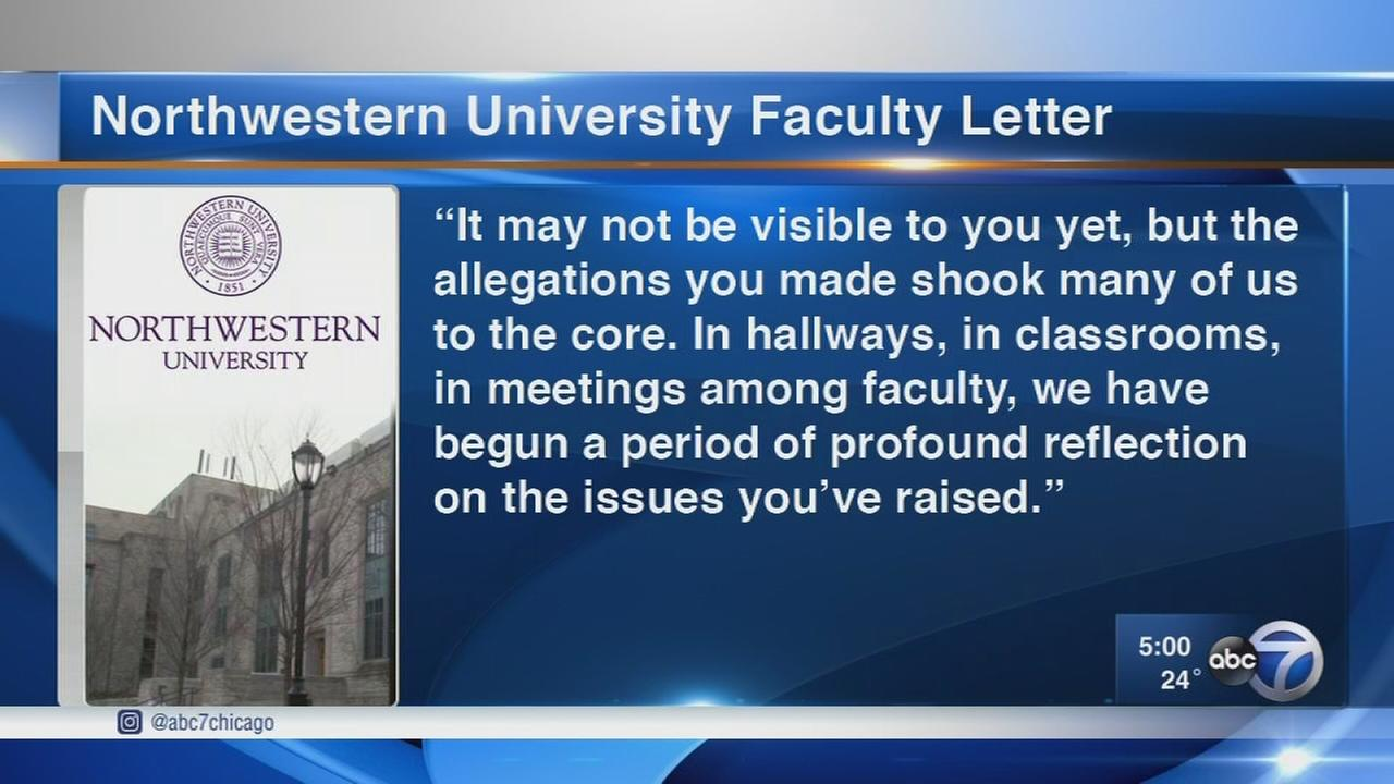 Northwestern faculty sign letter supporter accusers