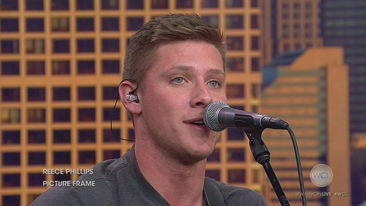 Indiana country singer Reece Phillips performs