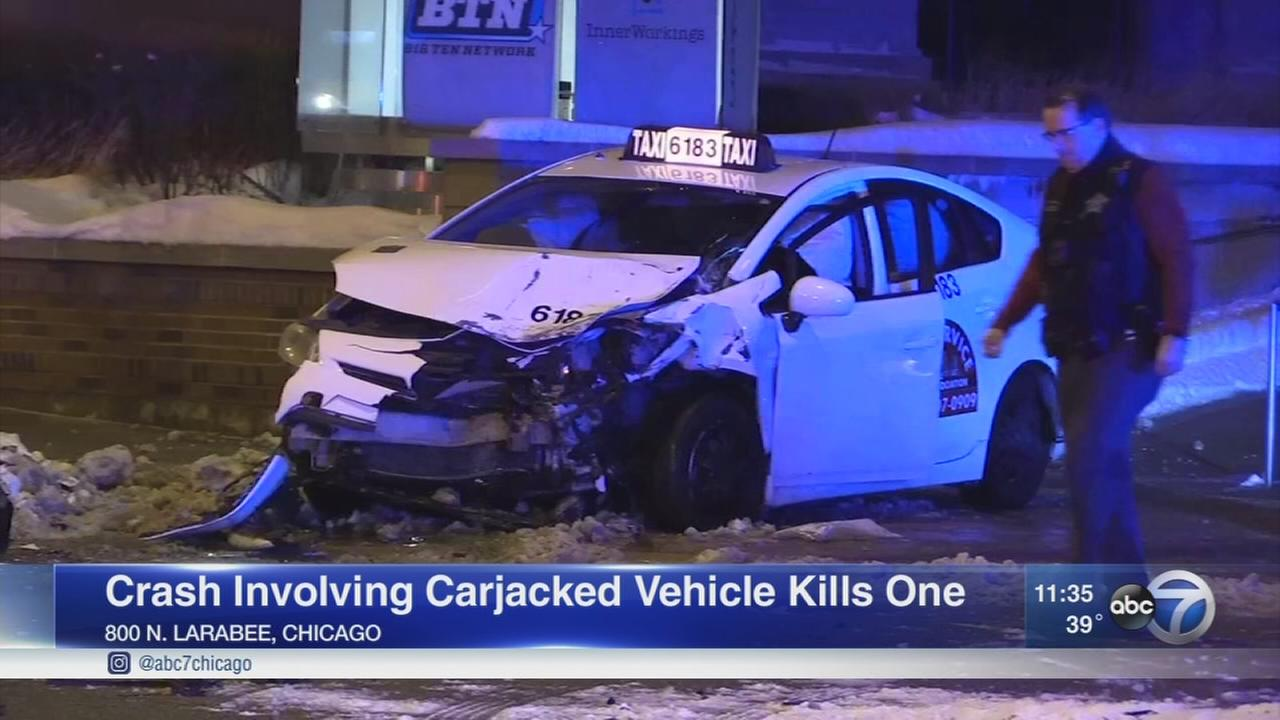 1 killed in crash involving carjacked car