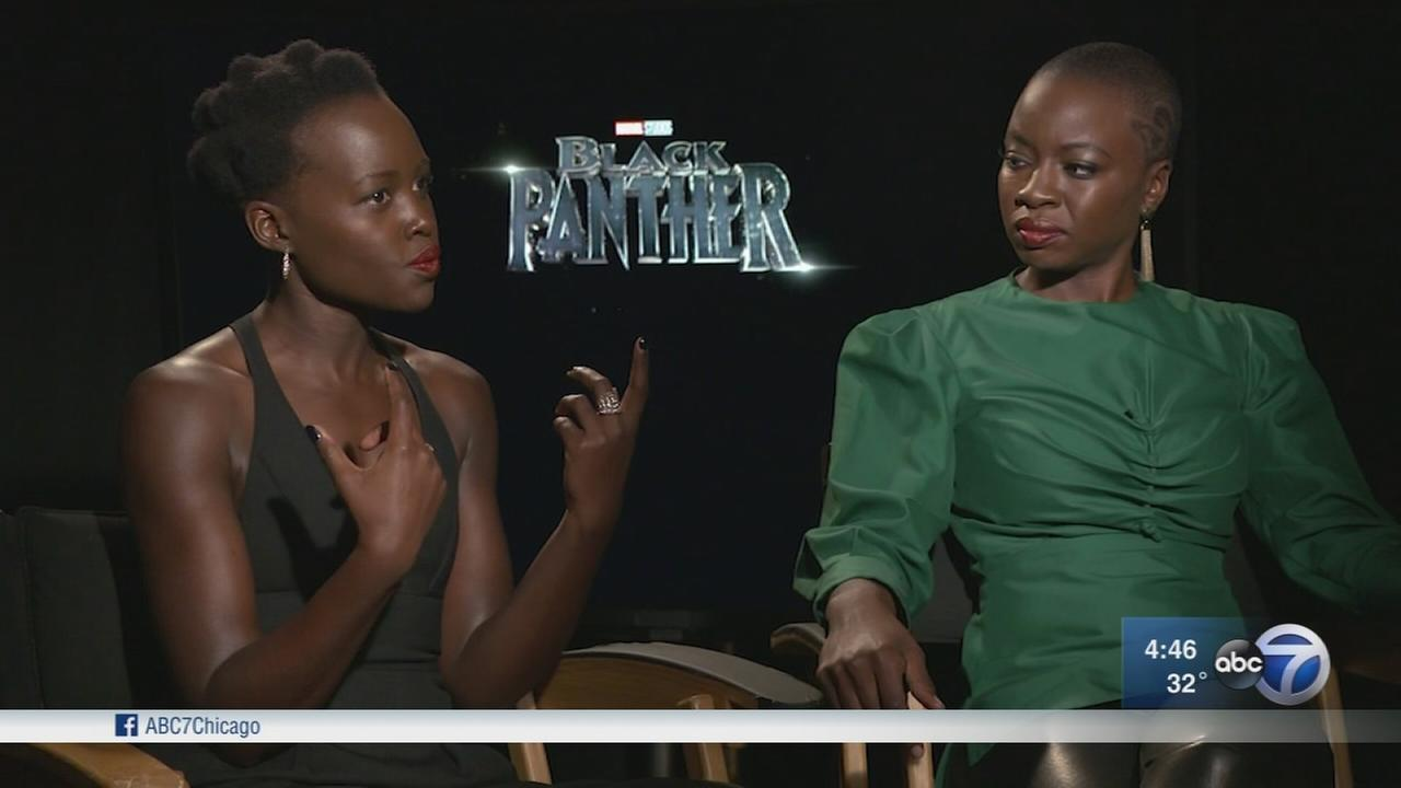 Lupita Nyongo and Danai Gurira play warriors in Black Panther