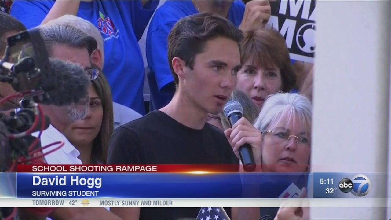Fla. school shooting survivors call for gun control